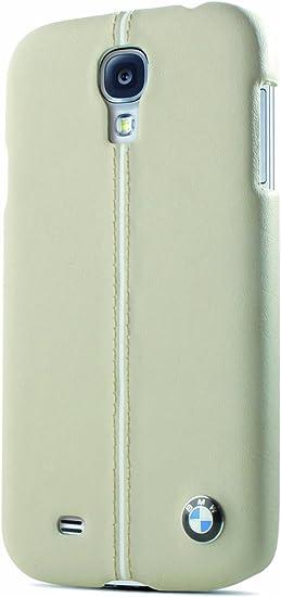 BMW BMHCS4LC - Funda de cuero con estuche rígido para Samsung Galaxy S4, cream: Amazon.es: Electrónica