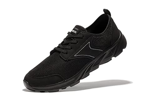 Newluhu Mens Breathable Mesh Soft Sole Casual Comfortable Lace-Up Running  Shoes,Walk,
