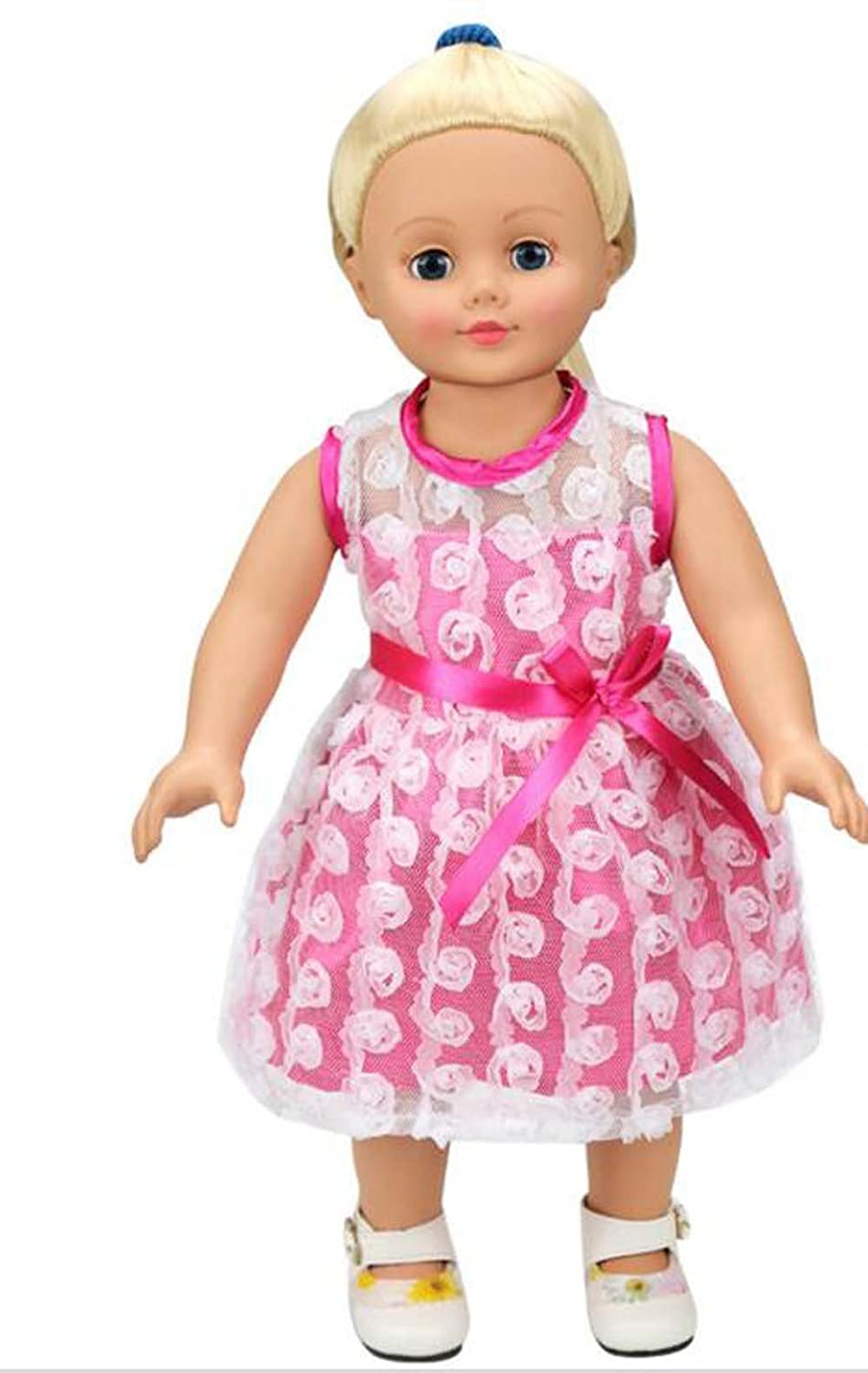 American Girl Bitty Baby Pink Rose Dress Outfit Shoes Headband-Brand New