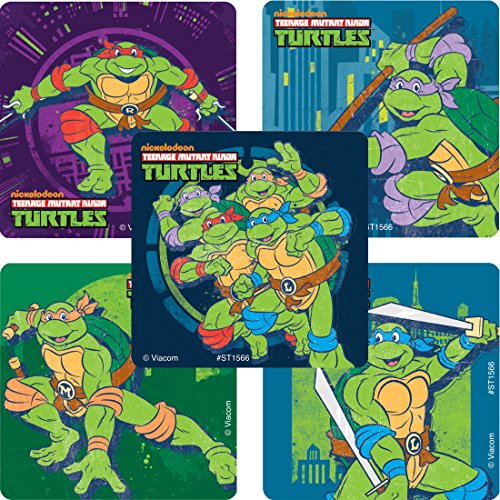 SmileMakers TMNT Classic Stickers - Prizes and Giveaways100 Per Pack -