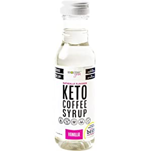Wholesome Yum Keto Coffee Syrup - Sugar Free Vanilla Syrup With Monk Fruit & Allulose (12 fl oz) - Naturally Sweetened & Flavored, Non GMO, Low Carb, Gluten-Free, Vegan