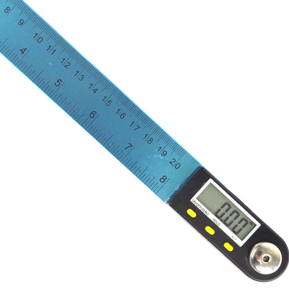 (8inch 200mm Stainless Steel Digital Angel Ruler) Goniometer Rule with LCD Digital