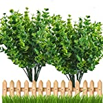 E-Hand-Artificial-Plant-Outdoor-UV-Resistant-Eucalyptus-Leave-Shrubs-Plastic-Fake-Bushes-Window-Box-Greenery-for-Home-Indoor-Garden-Light-Green-Verandah-Office-Wedding-Decor-Wholesale-4-PCS
