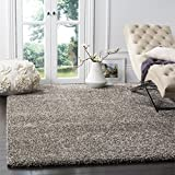 Safavieh Milan Shag Collection SG180-8080 Grey Area Rug (3' x 5')