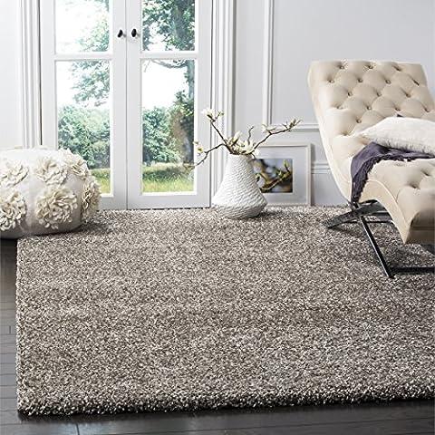 Safavieh Milan Shag Collection SG180-8080 Grey Area Rug (8' x 10') (Area Rugs 8x10 Modern)