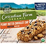 Cascadian Farm Organic non-GMO Protein Chewy Bar Peanut Butter Chocolate Chip Bars 5 - 1.77 oz