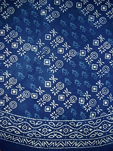 Hand Block Printed Dabu Round Cotton Tablecloth 86