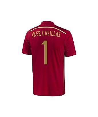 64ff6dea3ad7 Amazon.com  Adidas Casillas  1 Spain Home Jersey World Cup 2014 ...