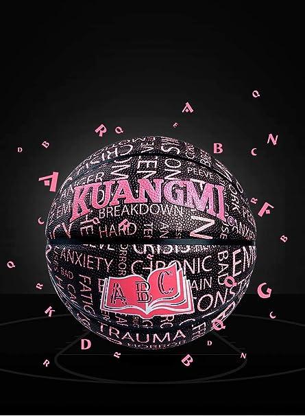 Kuangmi - Balón de Baloncesto, Talla 7, Color Negro y Rosa: Amazon ...