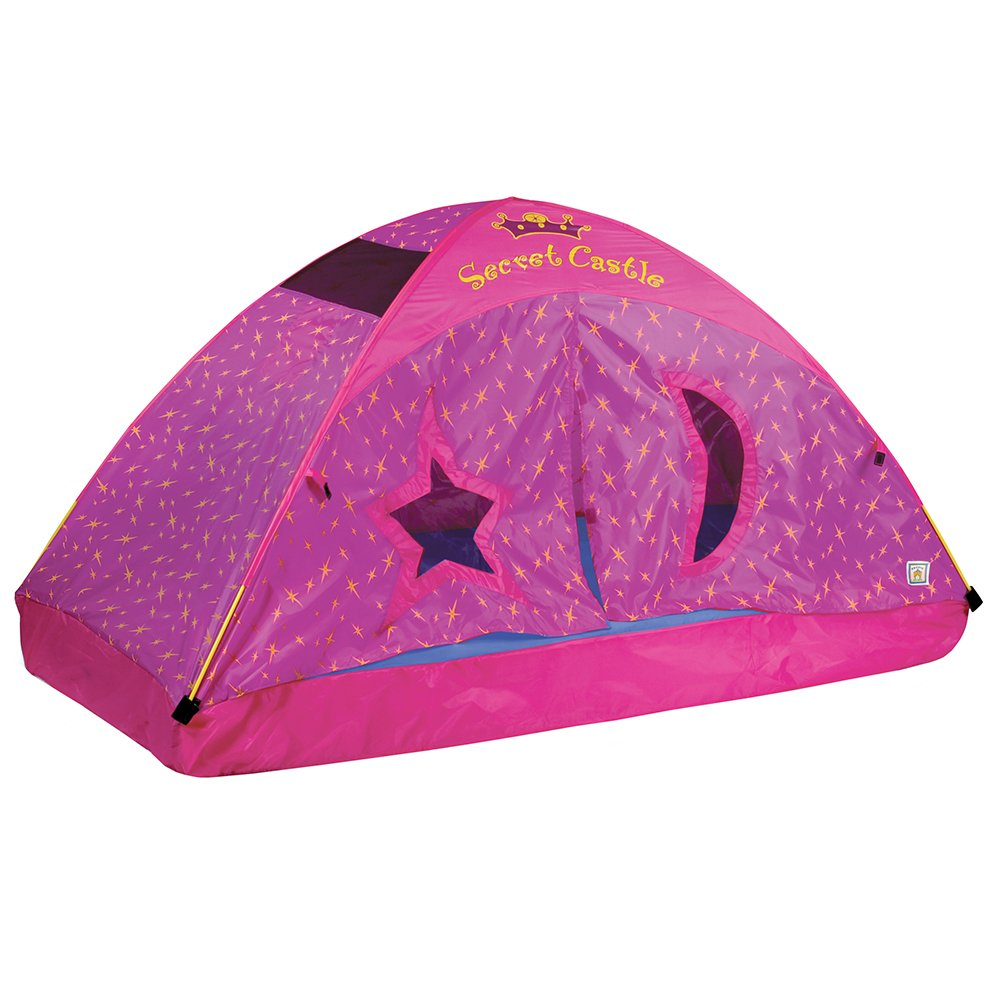 Amazon.com Pacific Play Tents Kids Secret Castle Bed Tent Playhouse - For Full Size Mattress Toys u0026 Games  sc 1 st  Amazon.com & Amazon.com: Pacific Play Tents Kids Secret Castle Bed Tent ...