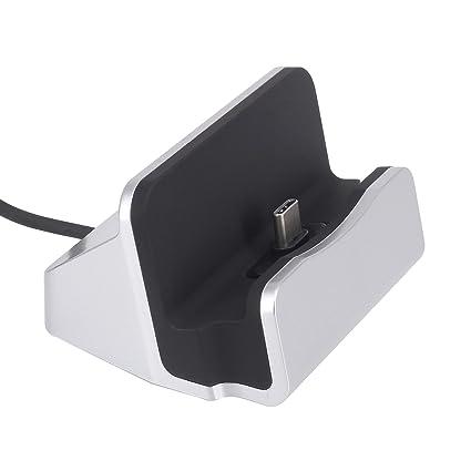Tipo C Cargador Dock, Miel Durable USB Type-C Carga rápida Cargador de Carga para estación de Carga USB C [] Compatible con Moto Z/Z Play, Google ...