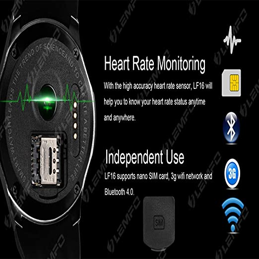 Amazon.com: Android 5.1 System Smart Watch 3G/WiFi Step ...