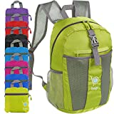 bago Lightweight Backpack. Water Resistant Collapsible Rucksack for Travel and Sports. Foldable and Packable Daypack for Adults, Men and Women, Teens and Children (Green)