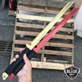 New 2 PC 27'' FULL TANG NINJA MACHETE SWORD ZOMBIE TACTICAL SURVIVAL KATANA EcoGift Nice Knife with Sharp Blade SET- Great For Fun And Practical Use
