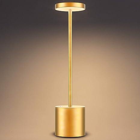 Lampada Da Scrivania Led Usb Senza Fili Ricaricabile D Oro Amazon It Illuminazione