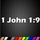 1 John 1:9 Sticker Decal Christian Christ God Lord Car Window Bible Verse x2Pc
