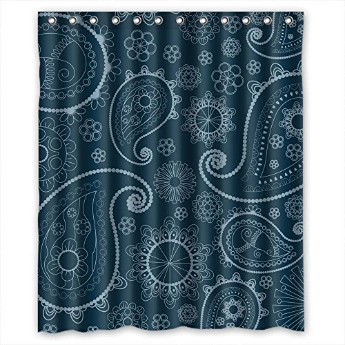 Price comparison product image MaSoyy Polyester Shower Curtains Of Paisley For Mother Bf Boys Husband Kids Boys. Water Repellent Width X Height / 60 X 72 Inches / W H 150 By 180 Cm(fabric)