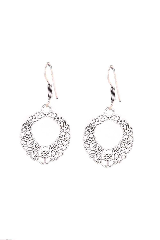 Designer Earrings Gift051046 Khussa Silver Earrings Prom Christmas Indian Earrings