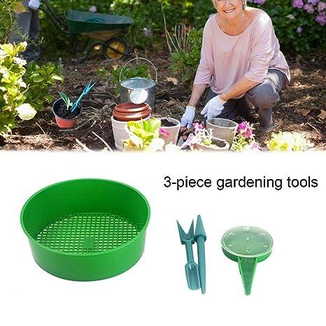 Wintesty - Juego de 4 Herramientas de jardinería de plástico para Semillas, Semillas, para Plantar y tamizar el Suelo, Piedra, Pan para jardín, tamiz: Amazon.es: Productos para mascotas