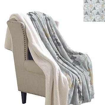 Amazon.com: Sunnyhome - Manta de franela con diseño retro de ...