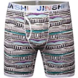 JINSHI Mens Ultimate Performance Long Leg Boxer Brief Athletic Bamboo Underwear Size 3X-Large