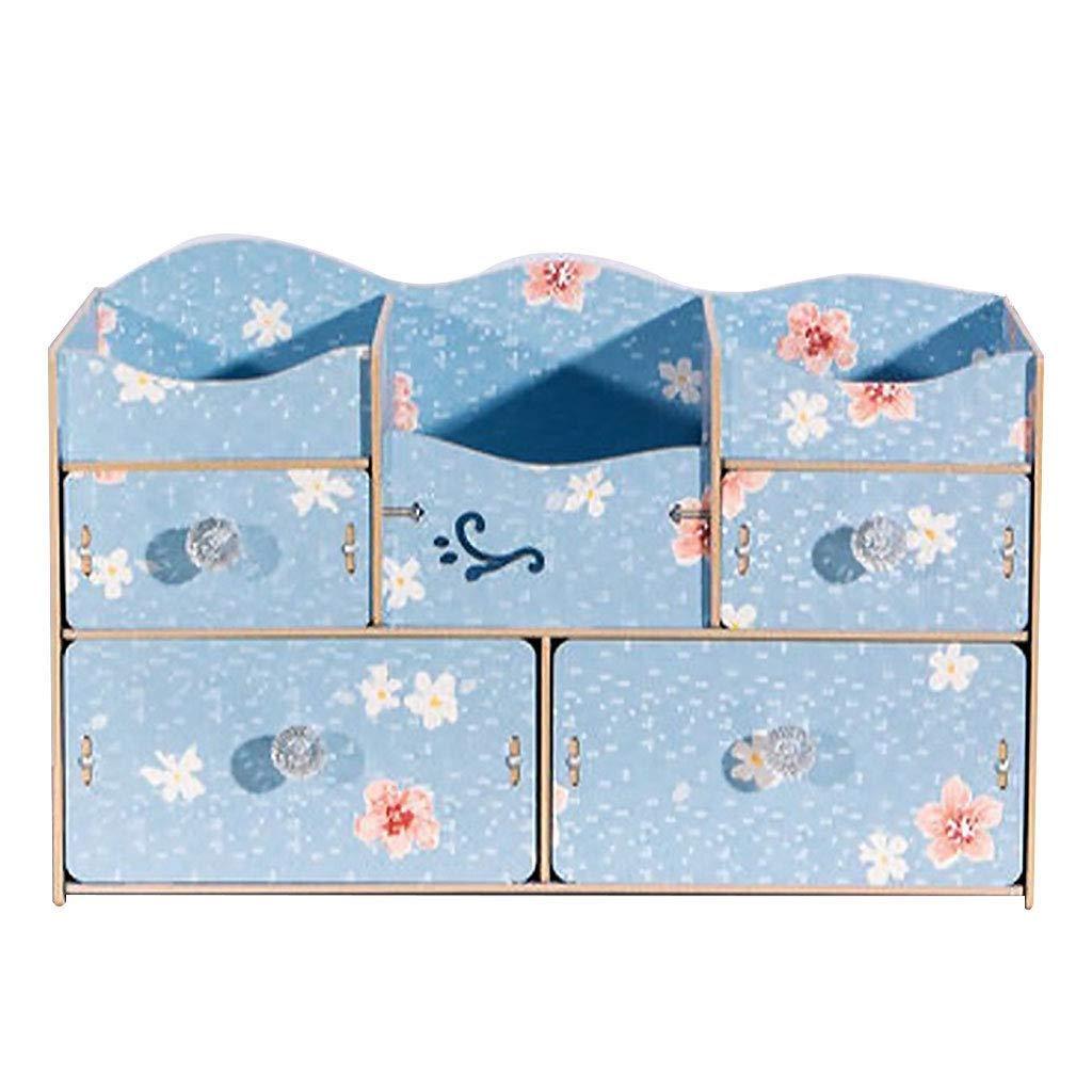 RMXMY Fashion Creativity Wooden Desktop Cosmetics Storage Box Skin Care Racks Jewelry Storage Consolidation Storage Box Drawer (Color : D)