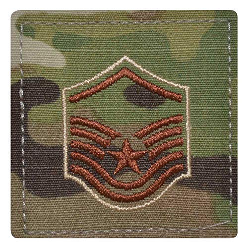 Medals of America Air Force Master Sergeant Rank OCP/Scorpion with Hook and Loop