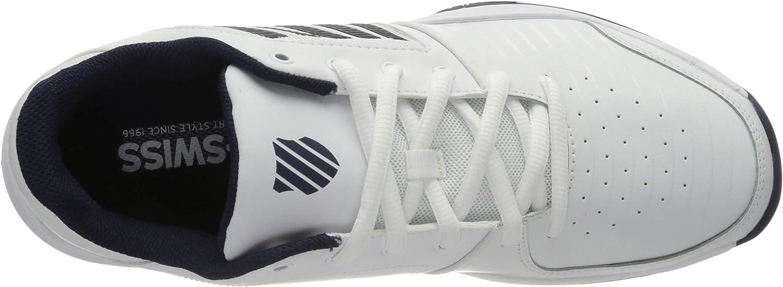 White//Navy 109 K-Swiss Performance Court Express HB Blanco 45 EU Zapatillas de Tenis para Hombre