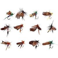 Les Demoiselles Dragon Mouches pour pêche à la mouche 18 F Couleurs mélangées Truites Mouches taille 10