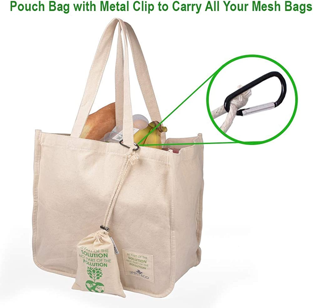 MARKET BAG with SLEEVE purple green environment friendly canvas carryall Tote bag with storage sleeve