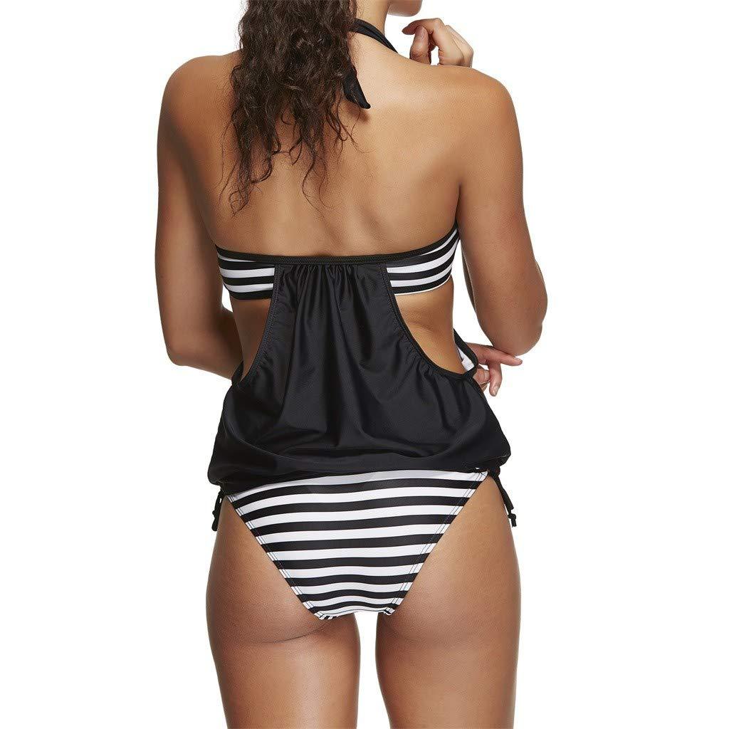Traje de baño Mujer Deportivo Rayas POLP Sexy Bikinis Mujer 2019 Brasileño Tallas Grandes Ropa de Verano Playa Bañador Natacion Mujer: Amazon.es: Ropa y ...