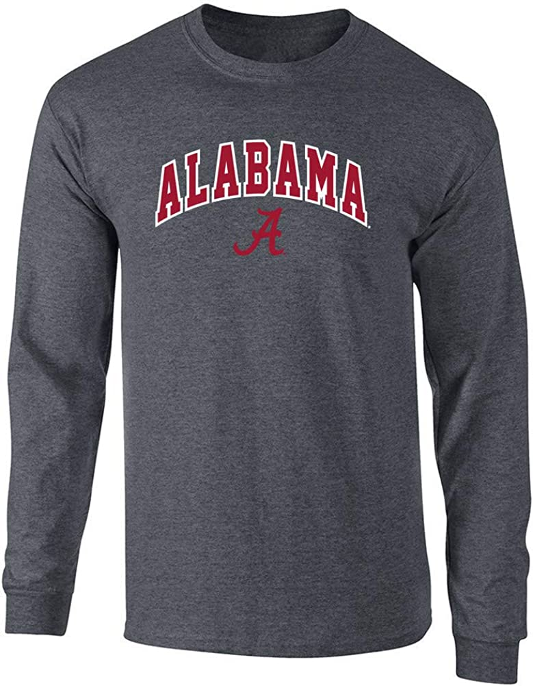 Elite Fan Shop NCAA Mens Apparel Plus Size Long Sleeve Tshirt Charcoal