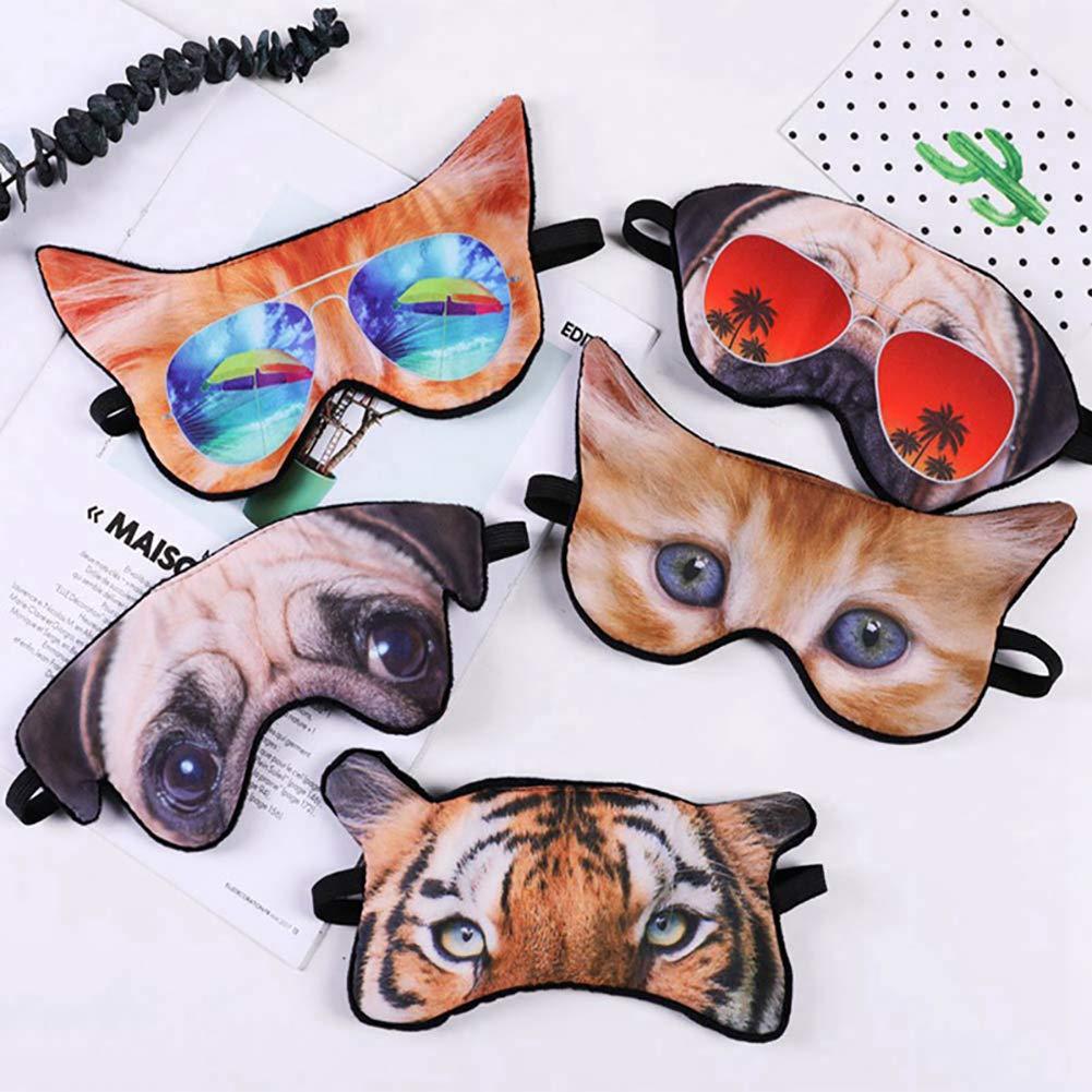 yimosecoxiang Niedliche Katzenauge Maske Reise B/üro Schlaf Augenmaske Patch lustige 3D Hund Katze Tier Augenbinde Visier Abdeckung 2#