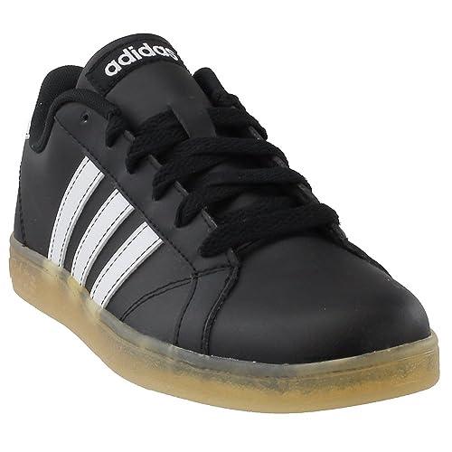 edee8f725f7a0c adidas Kids Unisex Baseline K (Little Kid Big Kid) Black White Gum 5 ...
