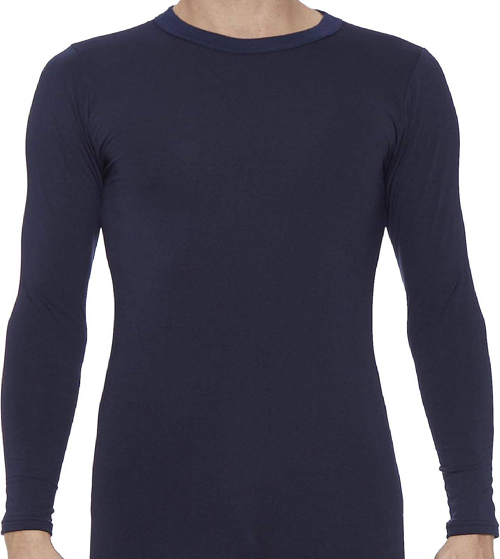 Rocky Mens Fleece Lined Thermal Long Sleeve Top Crewneck Underwear Baselayer T-Shirt