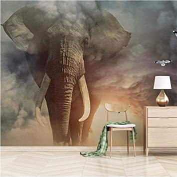 3d Wall Mural Poster Large Sticker Wallpaper Elephant Peel And Stick Removable Wall Decor Print Picture Image Design For Bedroom Living Room 140x100cm 5539 Inch Amazon Com