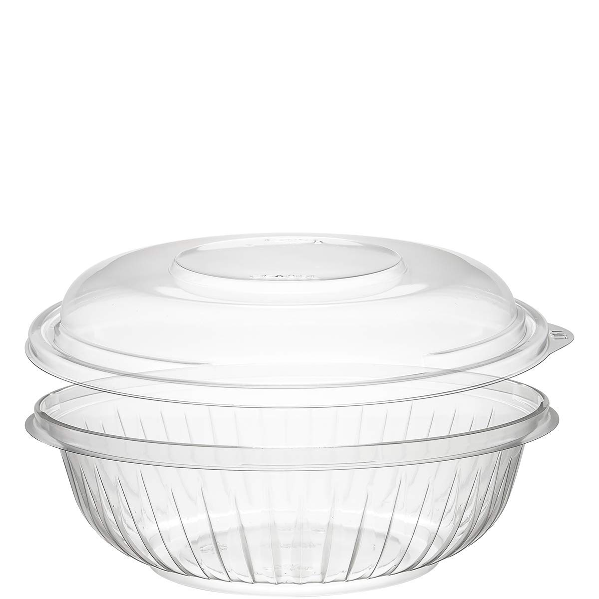 Dart PET24BCD 24 oz Clear PET Bowl with Dome Lid (Case of 126 Bowls w/Lids)