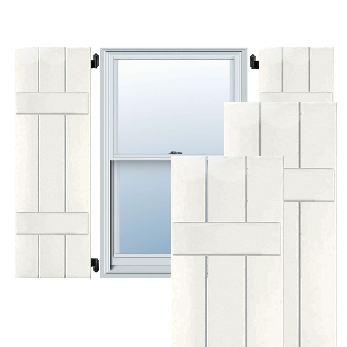 Ekena Millwork CWB12X071WHC Exterior Three Board