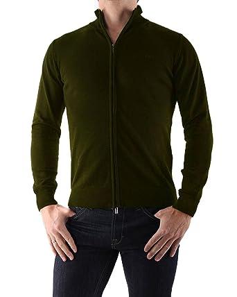 Armani Jeans - Gilet en Coton pour Homme 06W90 - Vert, S  Amazon.fr ... e8e36e2e9d32