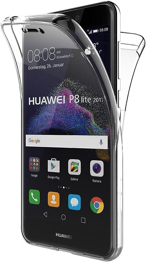 AICEK Funda Huawei P8 Lite 2017, Transparente Silicona 360°Full ...