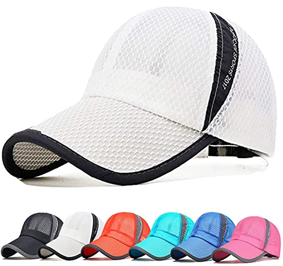 d365c9a1 Image Unavailable. Image not available for. Color: Summer Unisex Quick Dry Mesh  Baseball Cap Lightweight Breathable Running Golf Caps Sports ...