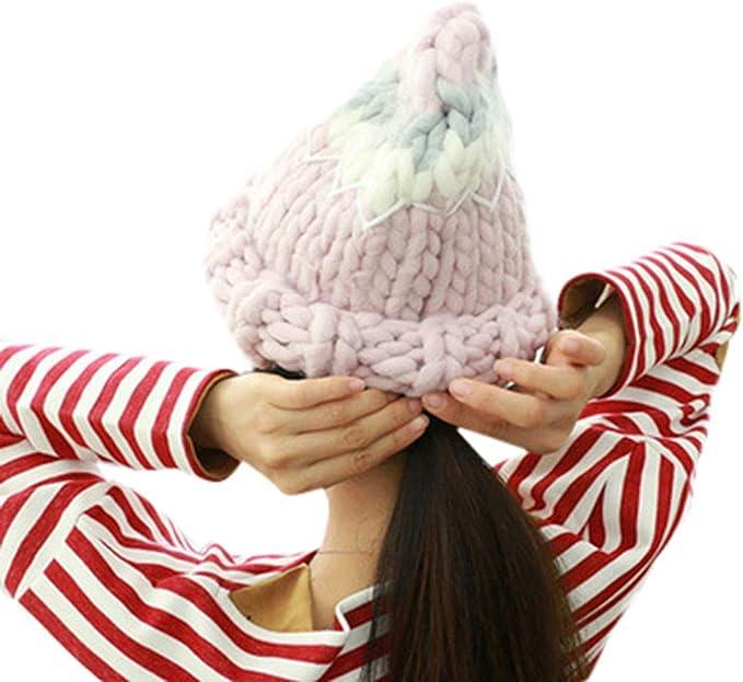TwoCC-Sombrero de punto, sombrero de punto con rayas de colores ...