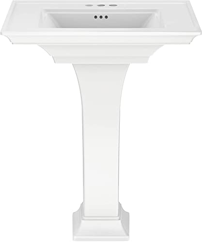 American Standard 0297400.020 Town Square S Pedestal Sink, 4-inch centers, White