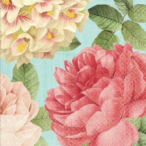 Blissful Blooms Napkin Floral Garden Party Tableware, 6.5