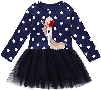 Mitlfuny Primavera Verano Ropa Niñas Bebé Princesa Vestidos de ...
