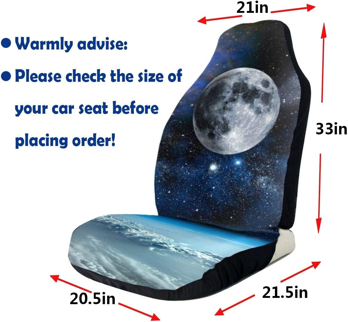 Car Seat Cover White Tiger Seat Cover Protector for Automobile Jeep Truck SUV Full Set Accessories for Adult Women