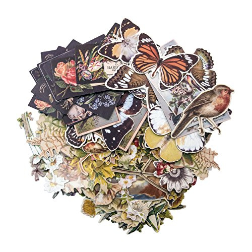 Tim Holtz Idea-ology Layers-Botanicals, 83 Pieces, (Decoupage Card)