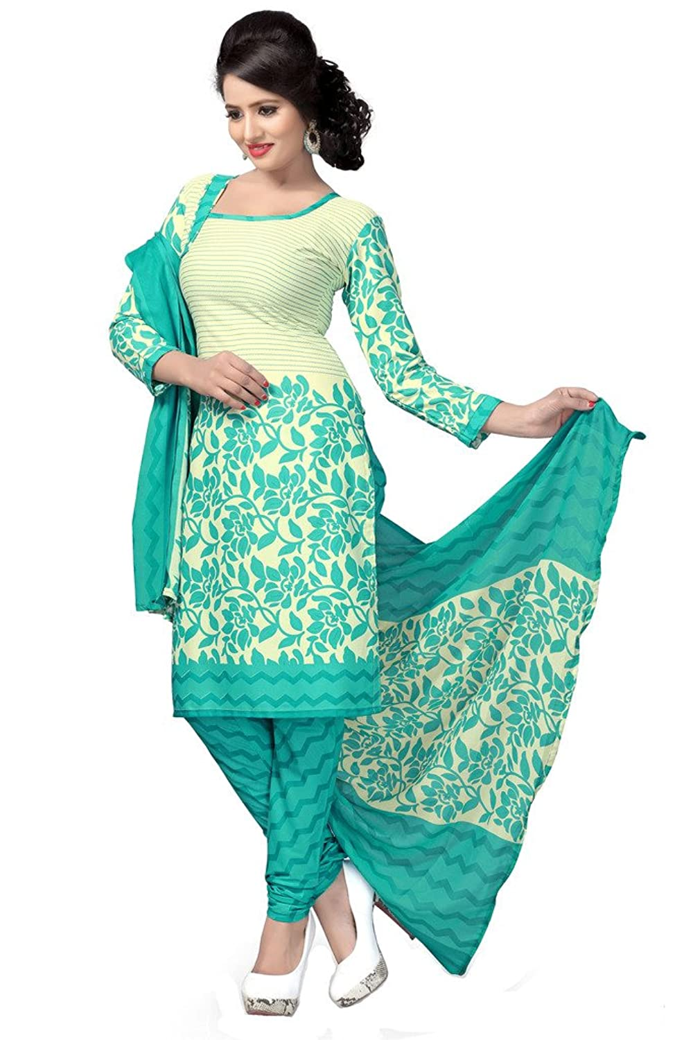Pictures of different types of dress materials for ladies