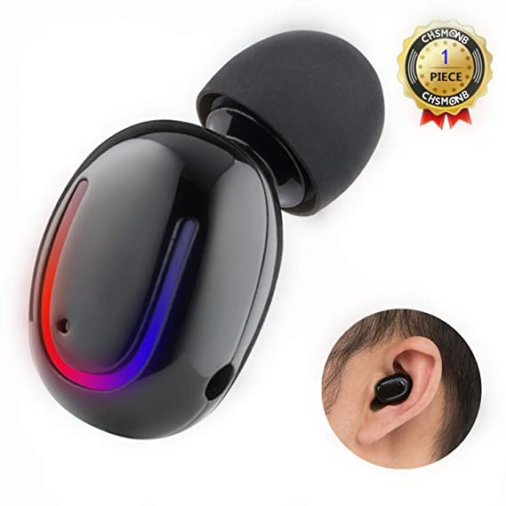 daf5b4000f6 Amazon.com: Wireless Bluetooth Earbud, CHSMONB Single Bluetooth Earphone 5  Hours Playtime Mini Invisible Bluetooth Headphone with Microphone  Compatible for ...
