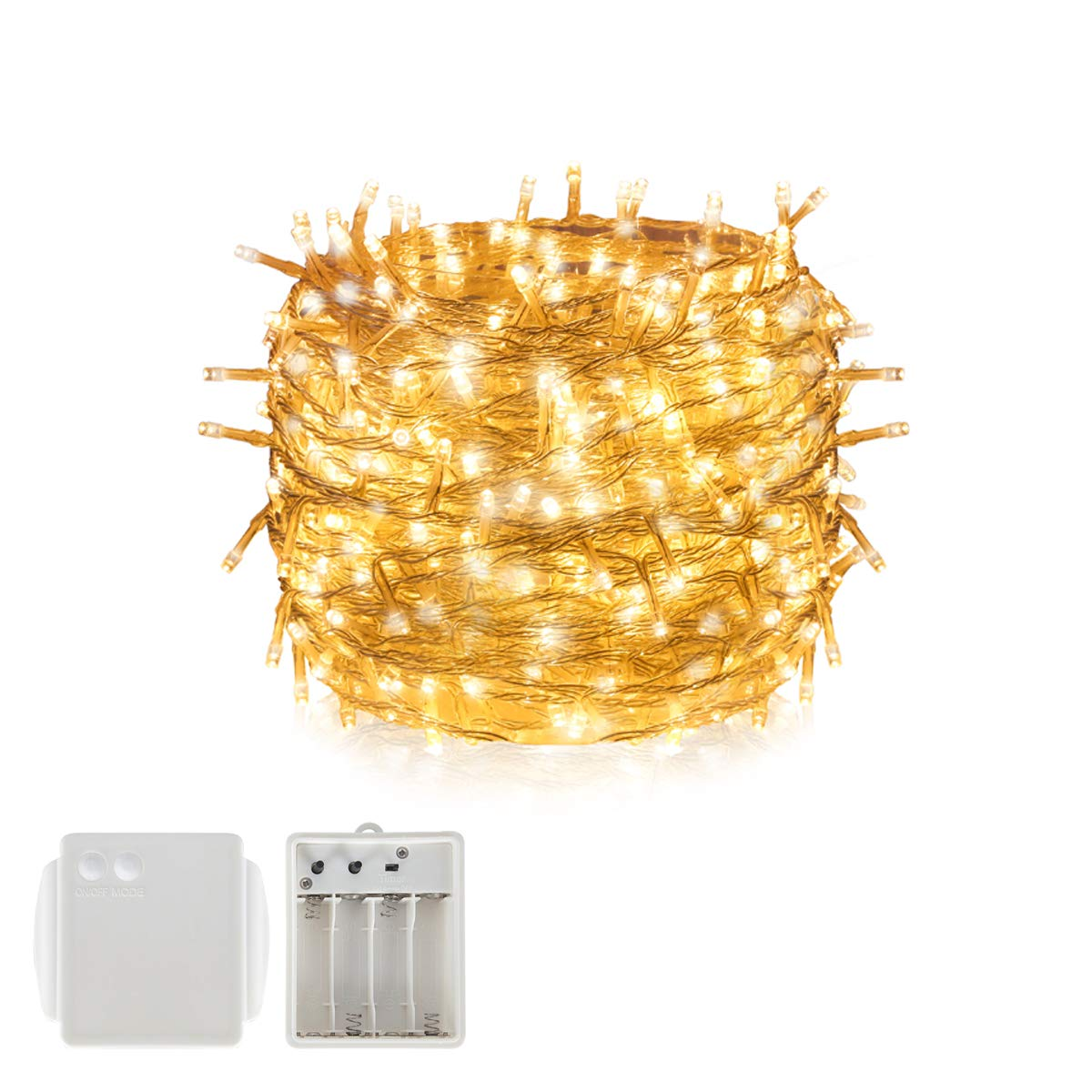 Battery LED Light String Fairy Light, Tersely Fairy Lights Christmas Xmas Garden Party Wedding Decoration (8 Light Modes, Memory Function) (300 LED 30M) Profits Technology. co Limited
